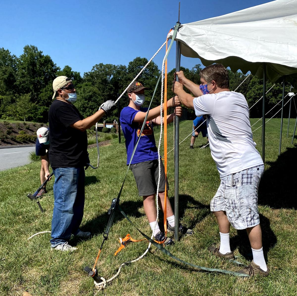 The Chesapeake Conference is lending campmeeting tents to Atholton Adventist Academy so they can hold some of their activities outside.