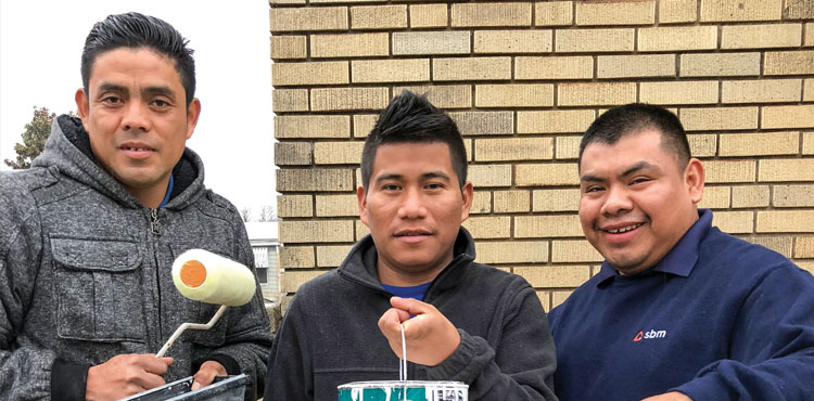 Isaias Bernardo, Mainor Perez, Zacarías Lorenzo, members of Allegheny West Conference's La Esperanza church in Cincinnati, are part of a community that regularly serves the neighborhood where they reside.
