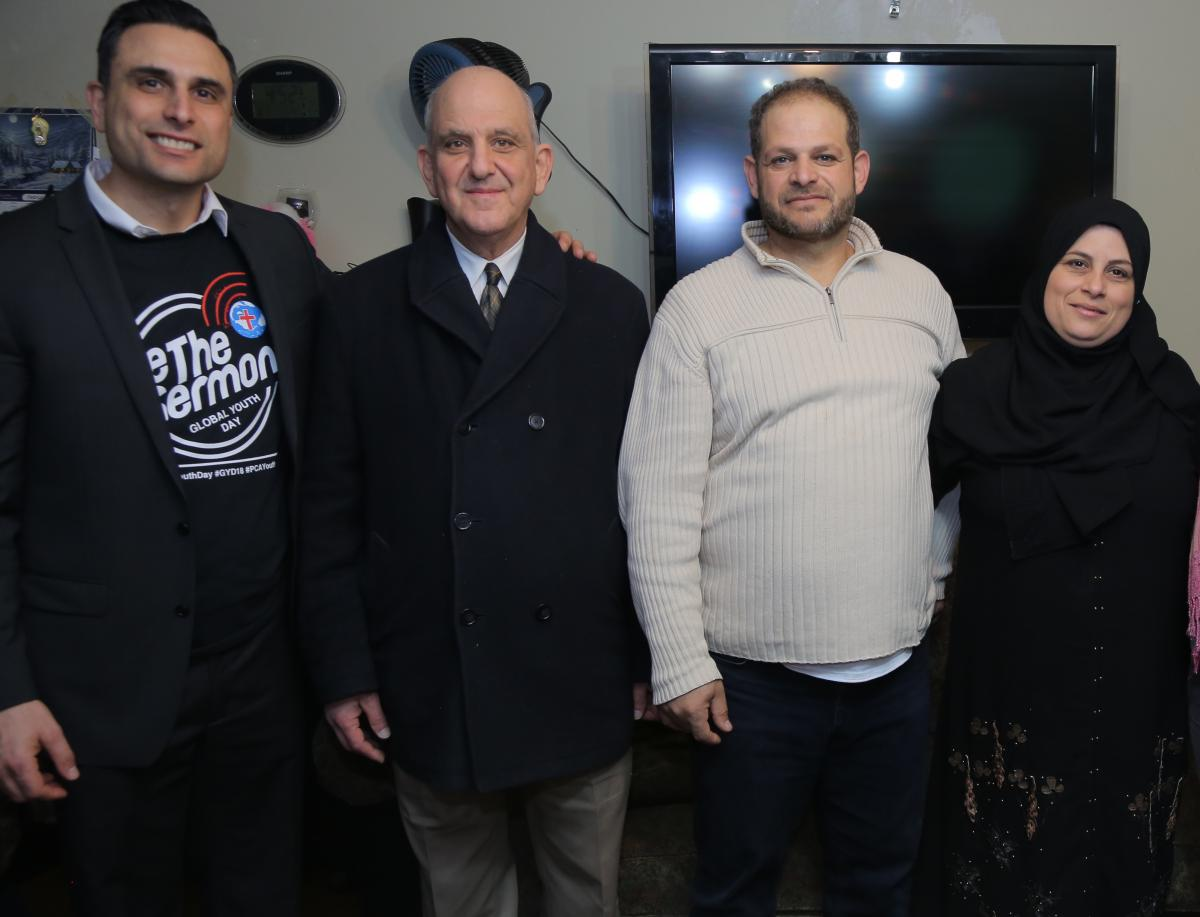 Pastor Joseph Khabbaz and Anees Abdelnour (and other Sligo church members) have developed a relationship with Basheer and Ghosoun and other members of a Maryland Syrian Refugee community.