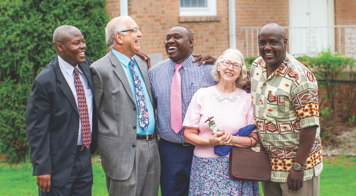 Thomas Makini, Charles Rutt, Fred Omwega, Eileen Fritz and Abner Onsinyo worship together at the Bethlehem church, where members re ect the Adventist Church's changing demographics.