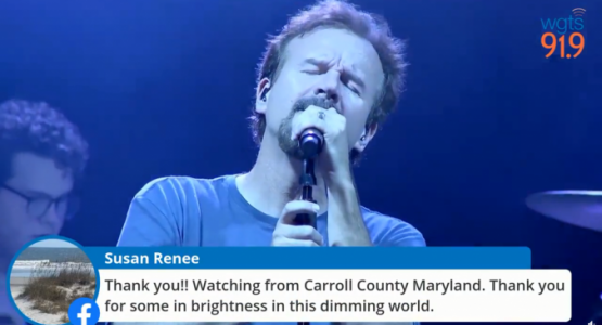 "Mark Hall from Casting Crowns sings during ""Night of Hope"""