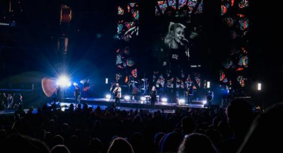 Hillsong Worship performs as part of the Unity Tour.