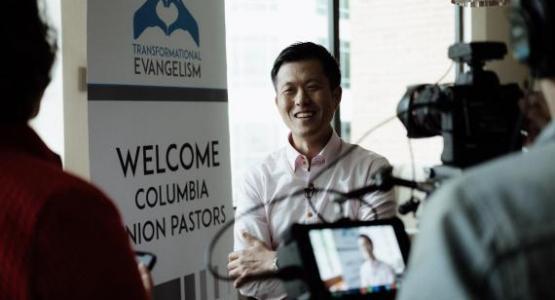 Brian Tagalog photographed Pastor Stephen Lee at Transformational Evangelism.