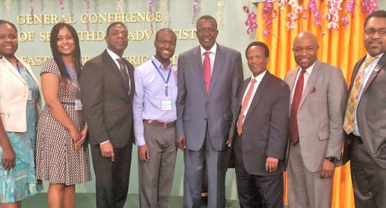 Guest presenters meet David Maraga,   Chief Justice and president of the Supreme Court of Kenya, and E  CD President Blasious Ruguri.
