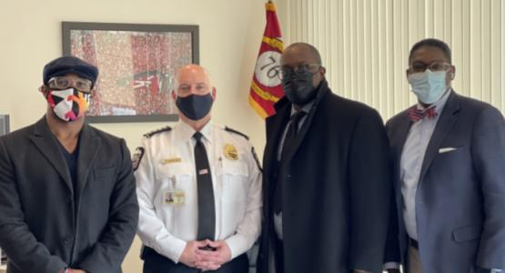 Ndubuisi Nwade, Thomas Quinlan, Columbus chief police, C. Shaun Arthur, and Keith Goodman