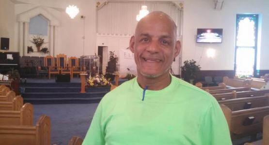 Due to the Mizpah church ARMin program, Manuel Jimenez, a recovery house resident, now attends church regularly.