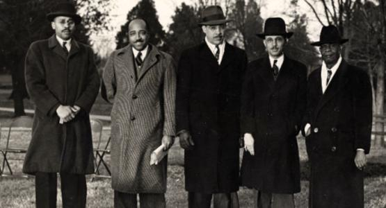 The inaugural Regional Conference presidents pose together in 1946.