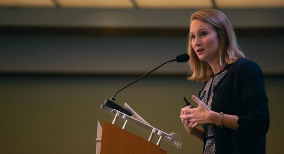 Erica Jones speaks at the 2018 Society of Adventist Communicators convention, Oct. 18-20  CREDIT: Pieter Damsteegt