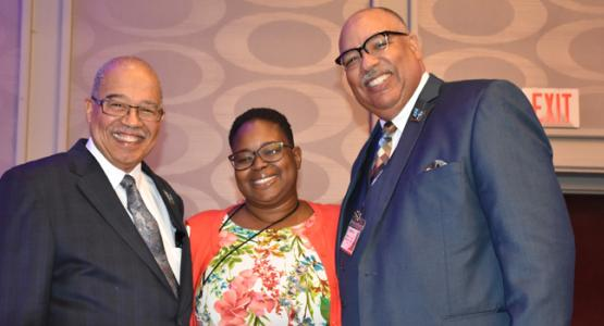 Marvin C. Brown, H. Candace Nurse and William T. Cox gather at the Allegheny West Conference Constituency Session