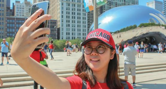 Yuri Hong, a teacher at G.E. Peters visits Chicago for the 2018 Teachers' Convention