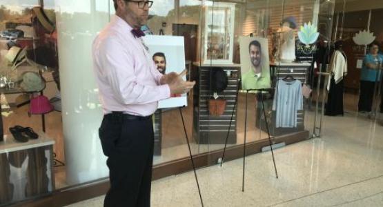 Kettering Medical Center Chaplain Elliott Smith speaks at a prayer vigil at the hospital.