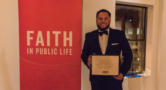 Jason Ridley Receives Faith in Public Life Award
