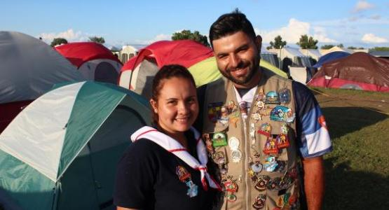 Maricris España and Irvin Josue Jacinto Miranda got engaged during 2019 International Pathfinder Camporee. Photo by V. Michelle Bernard for the Visitor