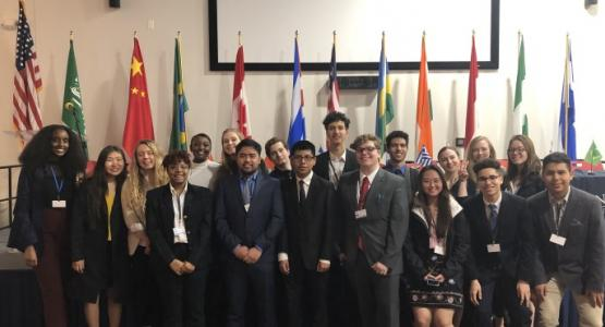 Highland View Academy Capital Model United Nations delegation