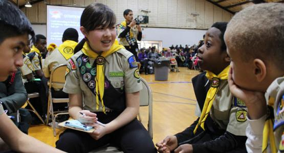 Members of the Fredericksburg Pathfinder Club participate in the Columbia Union Pathfinder Bible Experience