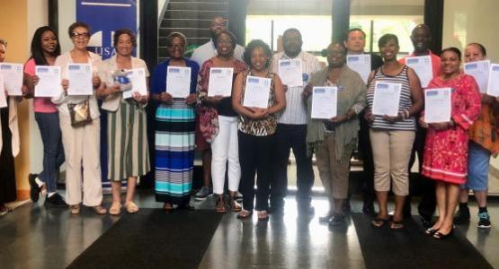 AEC hosted its first two-day Mental Health First Aid training, where 18 participants earned certificates for completing the eight-hour training session.