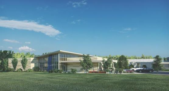 A rendering of the new high school addition