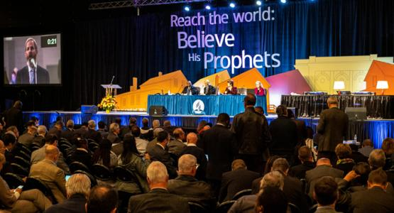 Ted Wilson, President of the General Conference of the Seventh-day Adventist Church speaks to the delegates of the 2018 General Conference Annual Council, held Oct 11-17, 2018 in Battle Creek, MI. ©2018 North American Division/Dan Weber