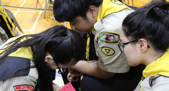 Members of the Polaris Filipino Team 2 participate in the 2018 Columbia Union Pathfinder Bible Experience