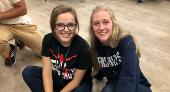 Mountain View Conference's Parkersburg Adventist Academy student Alaina Vill and Pennsylvania Conference's Blue Mountain Academy student Summer Dekle attend SALT.