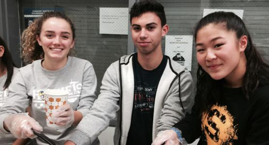 "Sophomores Karissa Smith, Nick Toscano and Eloise Tran experience a ""soup miracle"" at a homeless shelter in Washington, D.C."
