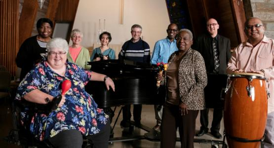 The Aphasia Tunes — a choir comprising people with a language disorder—practice.