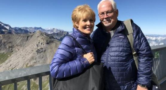 Rob Vandeman is pictured with his wife, Judy