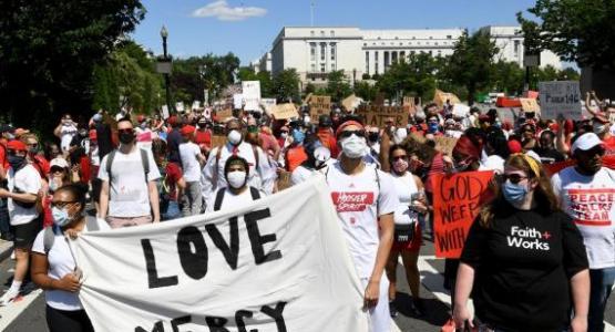 Washington Adventist University students march in D.C.