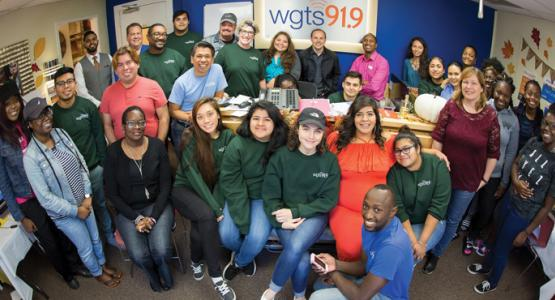 The WGTS 91.9 staff and volunteers from the community celebrate a successful 2017 fall fundraiser that yielded more than $1.2 million.