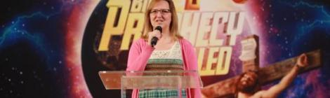 "Debbie Rivera, associate pastor at Chesapeake Conference's Ellicott City church, welcomes viewers to the ""Forecasting Hope"" online Bible prophecy series."