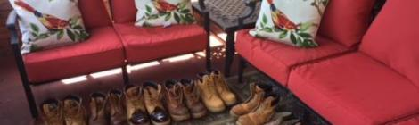 SCI-Greene inmates donate boots to homeless men as a result of the influence of members from the Bridges Community Outreach Ministries.