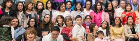 Approximately 500 Filipino church members gather for a convocation at the Tranquil Valley Retreat Center.