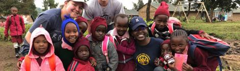 Highland View Academy students and staff are serving in Kenya.