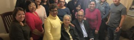 """Led by Irene Núñez (third from right), this Vida GPS """"Emmanuel"""" healthy small group of the West New York Spanish (N.J.) church meets weekly."""