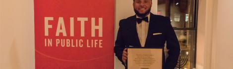 Jason Ridley Receives Faith in Public Life Award