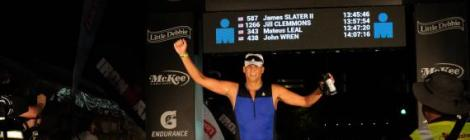 Jim Slater finishes the Chattanooga IRONMAN, raising funds for students at Blue Mountain Academy