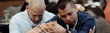 Mountain View Pastors pray during Transformational Evangelism. Photo by Brian Tagalog