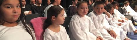 Baptismal Candidates waiting for their turn in Vineland, N.J.