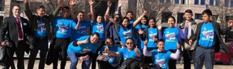 Youth members from the DC Spanish church serve their community on Global Youth Day 2019, one of more than 30 churches who participated in the Potomac Conference.