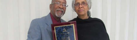 Orlando Moncrieffe (pictured with his wife, Maureen)  recently celebrated his retirement from active ministry  at the University Heights church in Somerset, N.J.