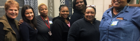 Brenda Kilgore (left) helps make single moms from the community, such as Yamile Sanchez, Cassandra Irvin, Krystal Brooks, April Mclaughlin, Venita Barnett and Nyra Williams, feel loved, valued and appreciated.