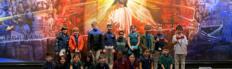 The second-grade class at Chesapeake Conference's Spencerville Adventist Academy visits the White Estate.