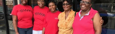 Members of the Southwest church's laundry ministry include Johanna Peart, Dorothy Joint, Carmen Gibson, Corine Cunnison and Hazel Matthias.