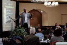 Photo of Carlton Byrd at Transformational Evangelism by Brian Tagalog