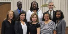 Emmanuel Asidedu, Celeste Ryan-Blyden, Harold Geene, (front) Carol Wright, Tabita Martinez, Ileana Espinosa, Evelyn Sullivan and Tiffany Brown (Jaqueline Messenger not pictured)