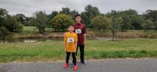 Derel and Douglas Jr. Reyes run in the Virtual 5k