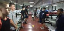 Desmond T. Doss Christian Academy students spend time on the USS Yorktown WWII aircraft carrier.