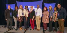 Kevin Krueger, WGTS; LaTasha Hewitt, Allegheny East Conference; V. Michelle Bernard, Columbia Union Conference; Celeste Ryan Blyden, Columbia Union; Jessica Beans, Kettering College; Andre Hastick, Chesapeake Conference; Heidi Shoemaker, Ohio Conference, Cheryl McKy, Adventist HealthCare; Debra Anderson, Potomac Conference; and Ricardo Bacchus, Columbia Union. Photo by Pieter Damsteegt