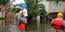 Texas National Guard soliders arrive in Houston, Texas to aid citizens from the storms of Hurricane Harvey. Photo by Lt. Zachary West, Texas Military Department