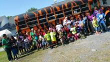 Staff at Cambridge (Md.) church's FLAG camp pose with campers.